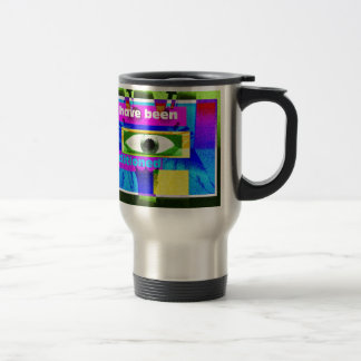 We have been conditioned! 15 oz stainless steel travel mug
