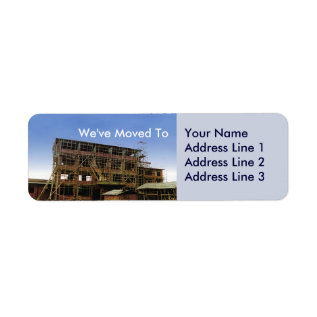 We Have Moved Address Change Sheets Of Avery Label at Zazzle