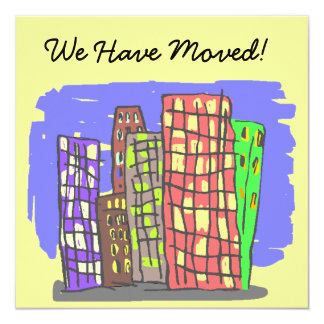 We Have Moved Announcement New Address Invitation