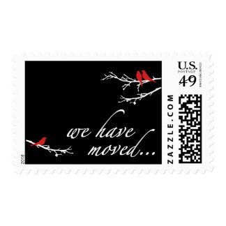 we have moved announcement postage stamp
