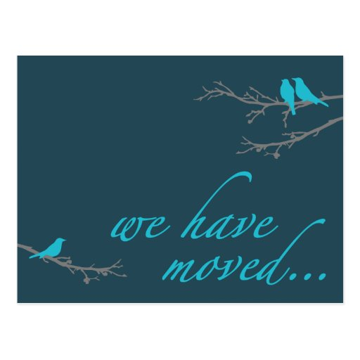 we have moved announcement postcard