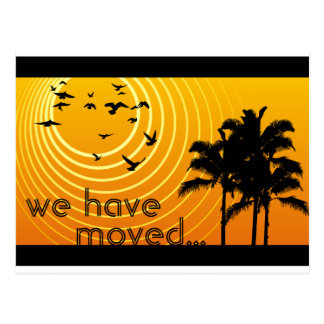 we have moved announcement : sunscene post card