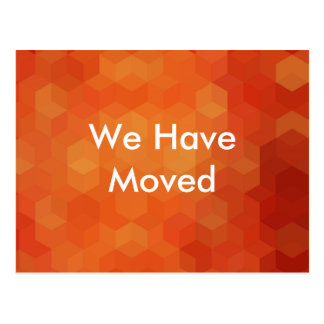 We Have Moved Bold Announcement Postcard