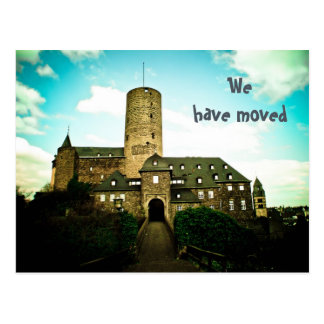 We have moved - castle motive cards