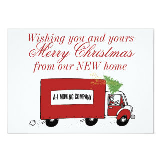 We have moved Christmas change of address Card