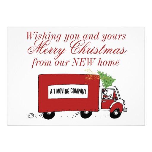 We have moved Christmas change of address Custom Invites
