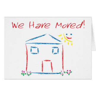 We Have Moved House Scene Card