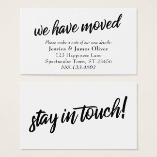 """""""We Have Moved"""" Minimal Typography Insert Card"""
