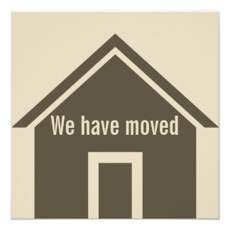 We Have Moved Moving Announcement Card