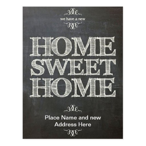 We have Moved New Address Chalkboard Postcard Post Cards