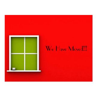 """""""WE HAVE MOVED"""" POSTCARD"""