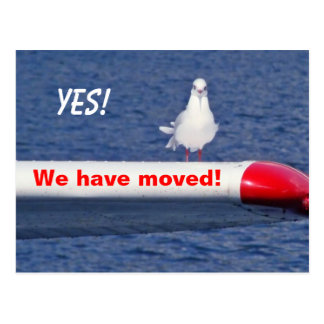 We have moved - Postcard