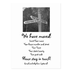 We Have Moved Postcard at Zazzle