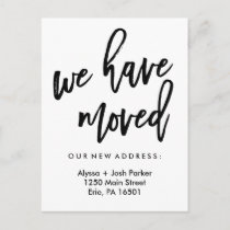 We Have Moved | Simple Modern Typography Announcement Postcard