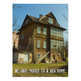 We have moved to a new home   Change of Address Postcard