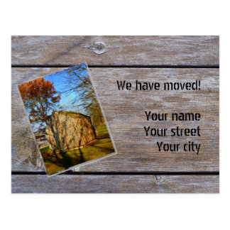 We have moved (Wooden sombrero) Tarjetas Postales