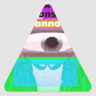 We have reached a level of consciousness that triangle sticker