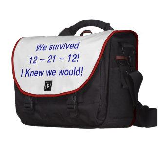 We have survived 12 21 12 Laptop Messenger Bag