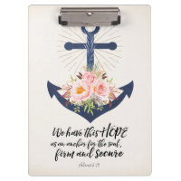 We Have This Hope Acrylic Clipboard