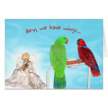 We Have Wings Greeting Cards