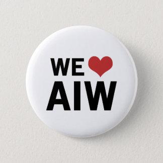We Heart AIW Pinback Button