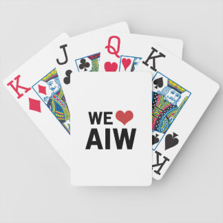 We Heart AIW Playing Cards
