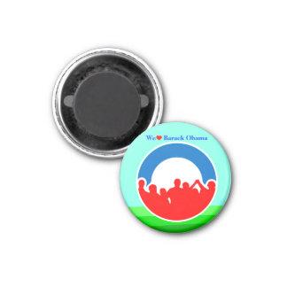 We Heart Barack Obama 2012 - Round! 1 Inch Round Magnet