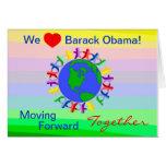 We Heart Barack Obama! Vote on 11/06/12 Card