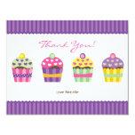 "We ""Heart"" Cupcakes Note Card Custom Invitation"