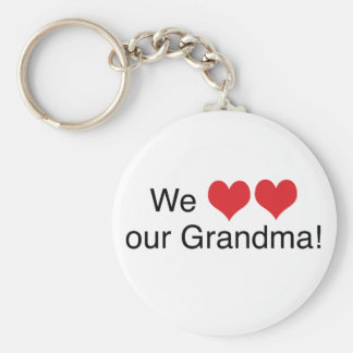 We Heart Grandma Basic Round Button Keychain