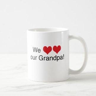 We Heart Grandpa Coffee Mug