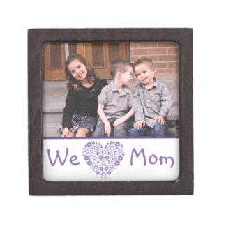 We Heart Mom Photo Gift Box Premium Trinket Box
