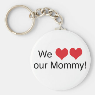 We Heart Mommy Keychain