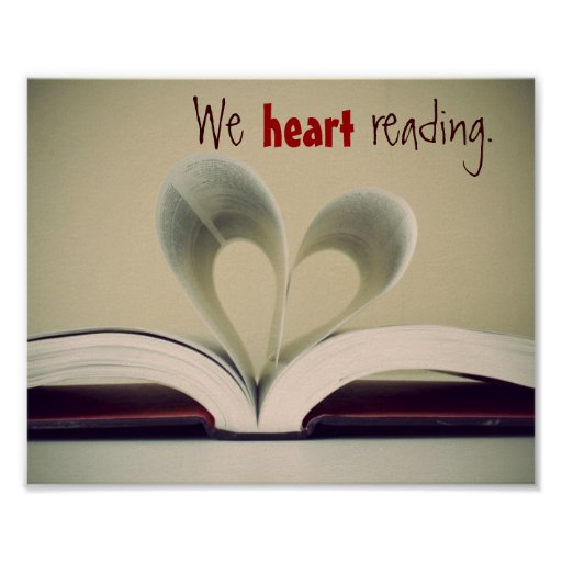 We Heart Reading Poster