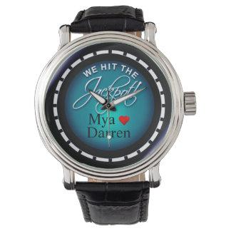 We Hit The Jackpot!   blue Wrist Watch