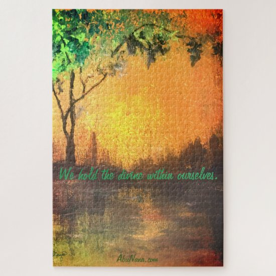 We Hold The Divine Within Ourselves Encouragement Jigsaw Puzzle