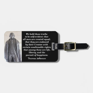 We hold these truths - luggage tag