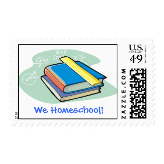 We Homeschool! Postage Stamp