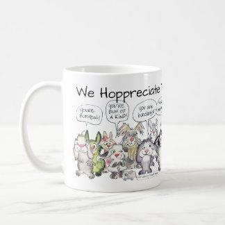 We Hoppreciate You 19 Cartoon Rabbits Coffee Mug