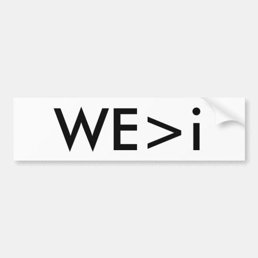 WE>i Bumper Sticker