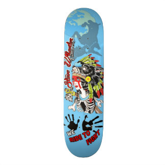 We ide To Fight Skate Deck
