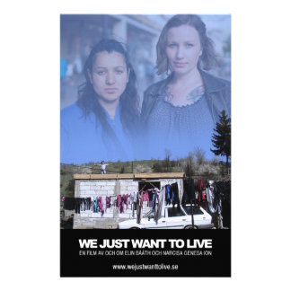 We just want to live - publicity blades flyer