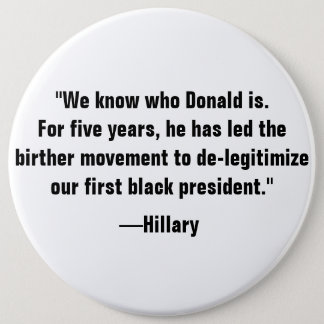 We know who Donald is. Button