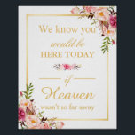 "We Know You Would Be Here Floral Chic Wedding Sign<br><div class=""desc"">================= ABOUT THIS DESIGN ================= We Know You Would Be Here Floral Chic Wedding Sign Template. (1) The default size is 8 x 10 inches, you can change it to any size. (2) All text style, colors, sizes can be modified to fit your needs. (3) If you need any customization...</div>"