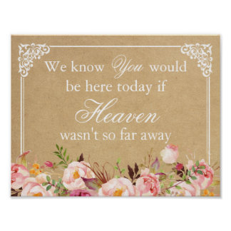 We Know You Would Be Here | Floral Wedding Sign