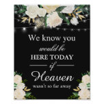 We Know You Would Be Here Remembrance White Floral Poster