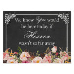 We Know You Would Be Here | Wedding Memory Sign Poster