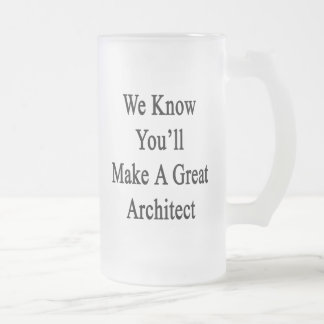 We Know You'll Make A Great Architect Frosted Glass Beer Mug