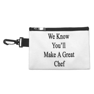 We Know You'll Make A Great Chef Accessory Bag
