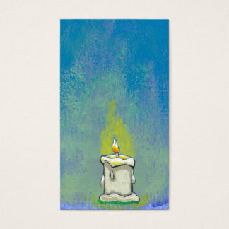 We Light a Candle & Give Thanks inspirational art Business Card